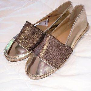 NWOT  Call It Spring gold flat shoes